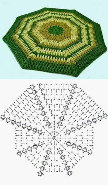 tapetes a crochet paso a paso octagonal