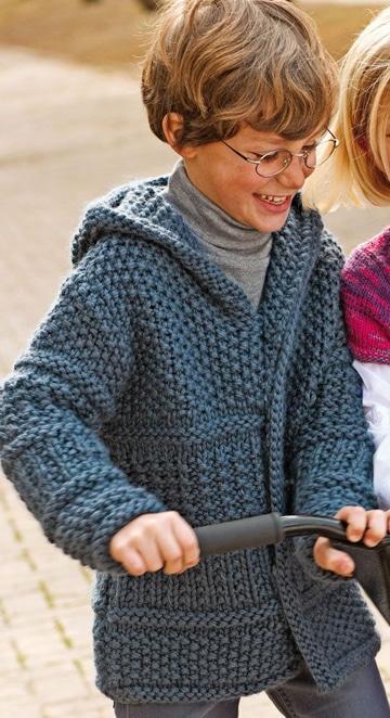 tejidos a palillos para niños abrigos