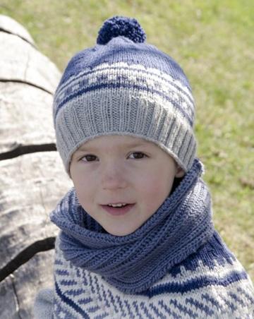 tejidos a palillos para niños gorros