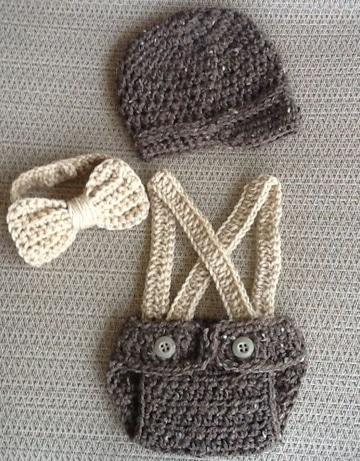tejidos para bebes varones conjunto