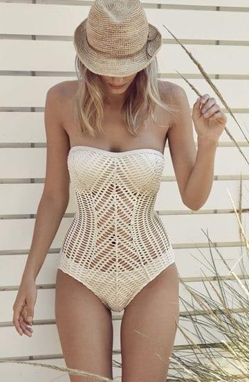 vestidos de baño tejidos en crochet una pieza