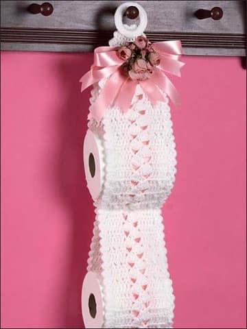 accesorios para baño en crochet papel
