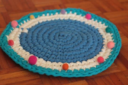 alfombras de totora al crochet como hacer