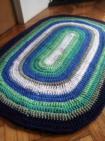 alfombras de totora al crochet modelo