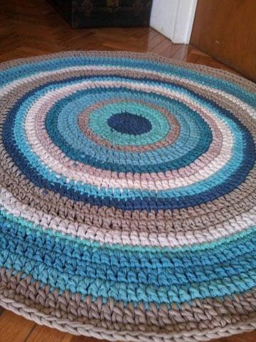 alfombras de totora al crochet patrones