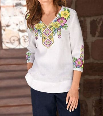 blusas bordadas yucatecas de moda