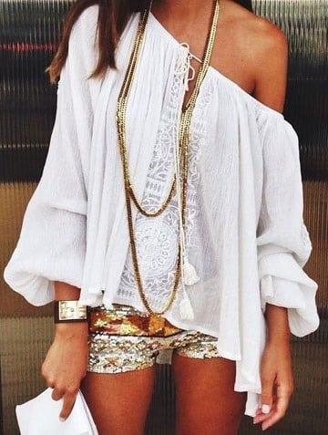 blusas campesinas modernas holgadas