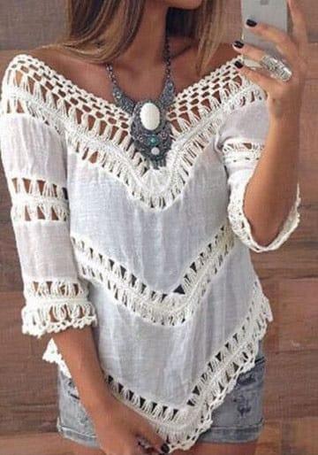 blusas campesinas modernas larga