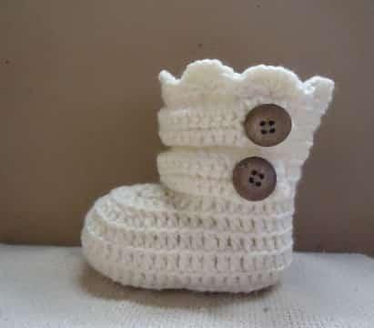 botas tejidas a crochet para niña faciles