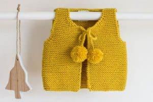 Los vas a derretir con estos chalecos tejidos para bebe