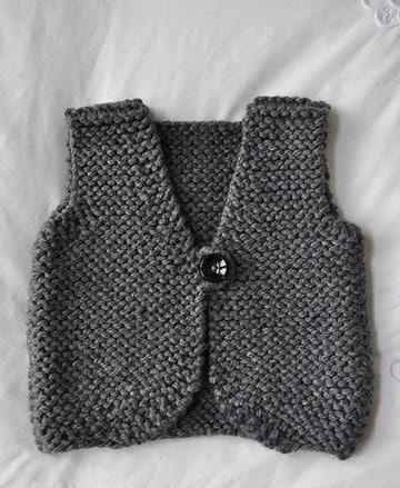 chalecos tejidos para bebe varon