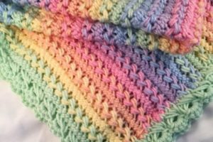 Lindas y suaves cobijas de bebe en crochet