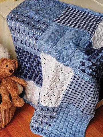 cobijas de bebe en crochet varon