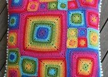 Me muero por los cojines a crochet cuadrados