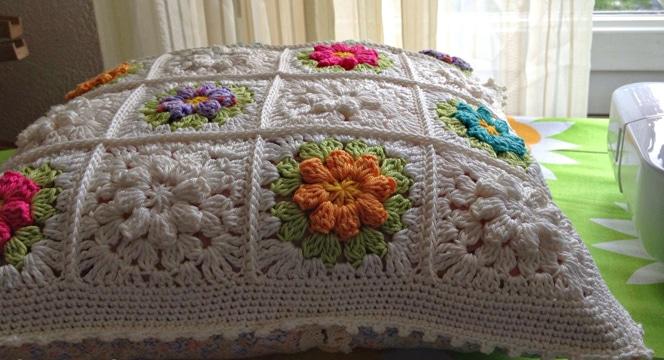 cojines a crochet cuadrados paso a paso