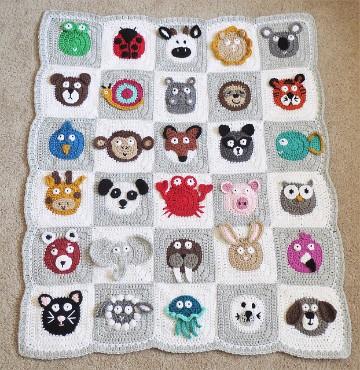 colchas de crochet faciles para bebe
