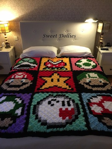 colchas de crochet faciles para niños
