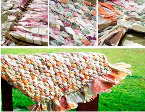 como hacer alfombras con totora en casa