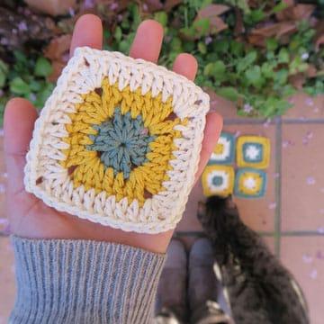 como hacer cuadrados al crochet en español