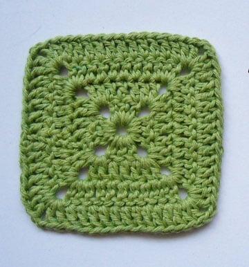 como hacer cuadrados al crochet faciles