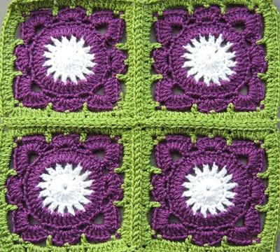 como hacer cuadrados al crochet para colcha