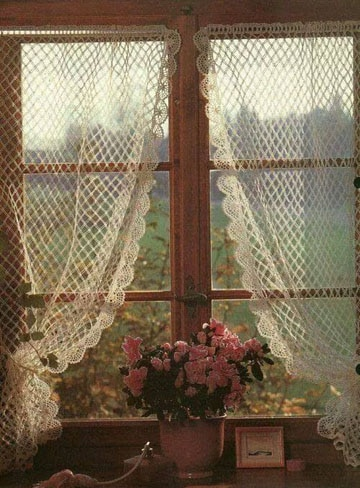cortinas a crochet para ventanas para salas