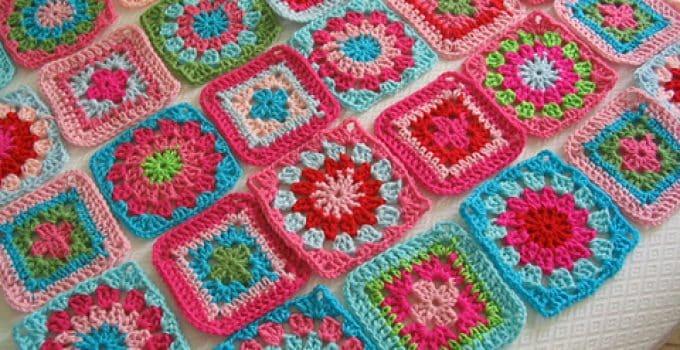 Más Y Más Bellos Cuadrados A Crochet Para Colcha