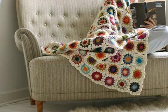 cuadrados a crochet para colcha imagenes