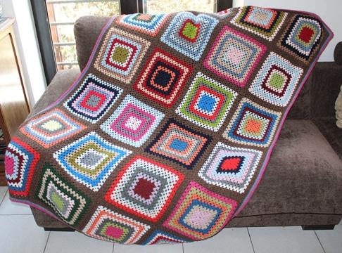 cuadrados a crochet para colcha paso a paso
