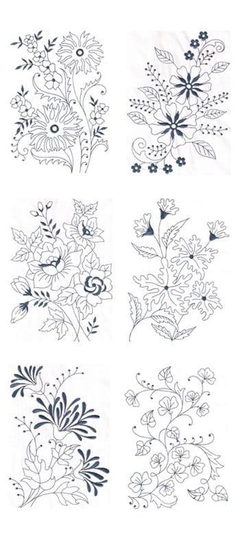 Bellos Y Sencillos Dibujos De Flores Para Bordar