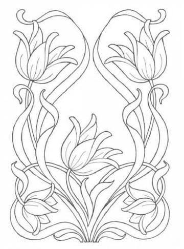 dibujos de flores para bordar en liston