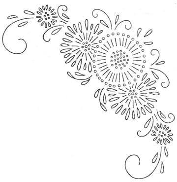 dibujos para bordar manteles a mano