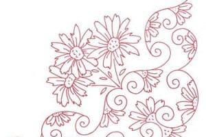 Empieza con estos dibujos para bordar manteles