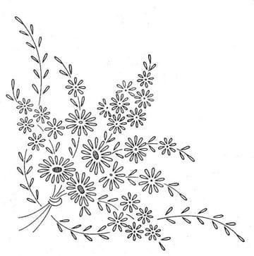 dibujos para bordar manteles de mesa