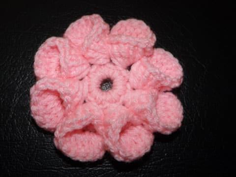 flores de ganchillo paso a paso rosa