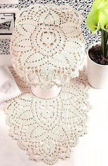 juegos de baño tejidos en crochet graficos