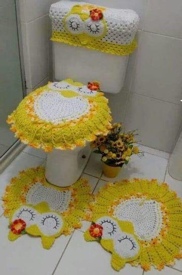 juegos de baño tejidos en crochet imagenes