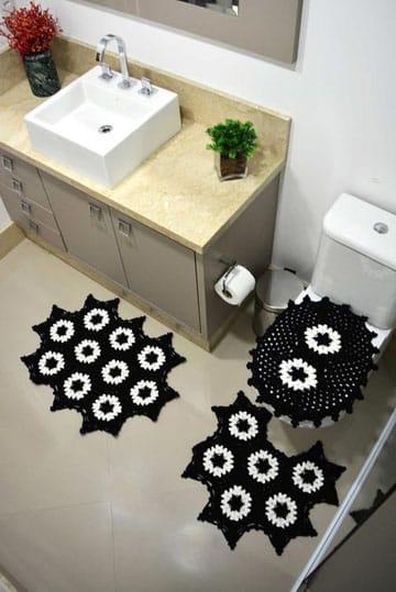 juegos de baño tejidos en crochet patrones