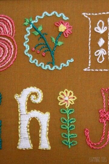 letras para bordar a mano patrones