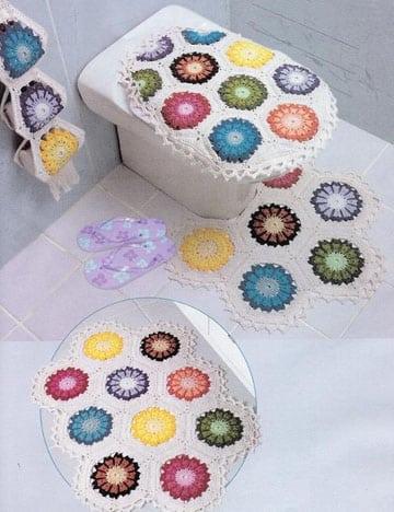 manualidades a crochet para el baño juego