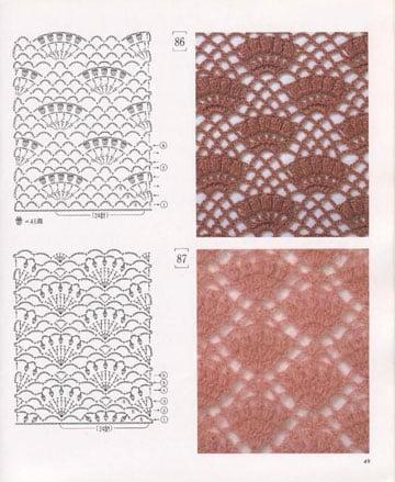 muestrario de puntos a crochet diseño