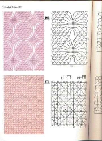 muestrario de puntos a crochet modelo