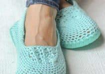 Mira estas encantadoras pantuflas tejidas a crochet