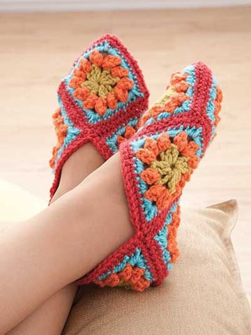 pantuflas tejidas a crochet faciles