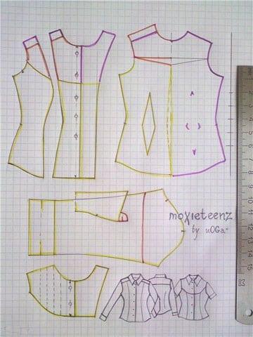 patrones de blusas para damas faciles