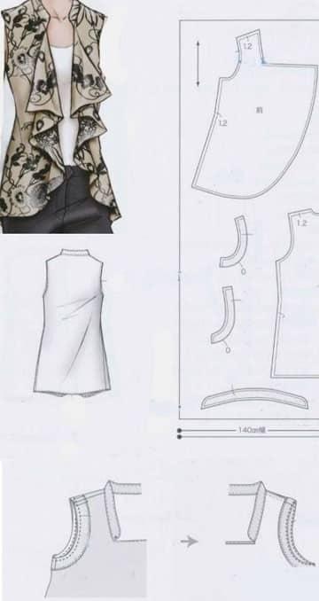 patrones de blusas para damas modelo