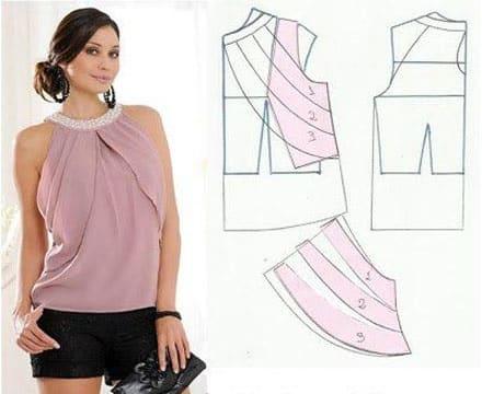 patrones de blusas para damas modernas