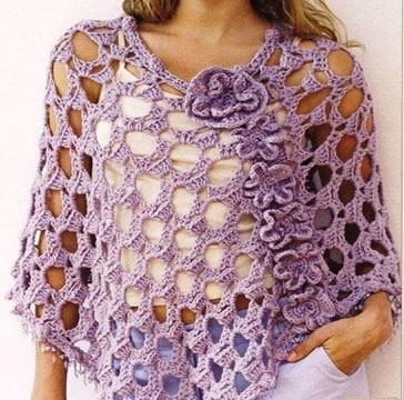 ponchos tejidos al crochet artesanales