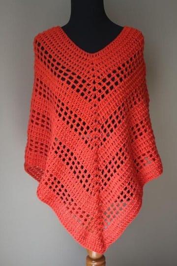 ponchos tejidos al crochet para mujer