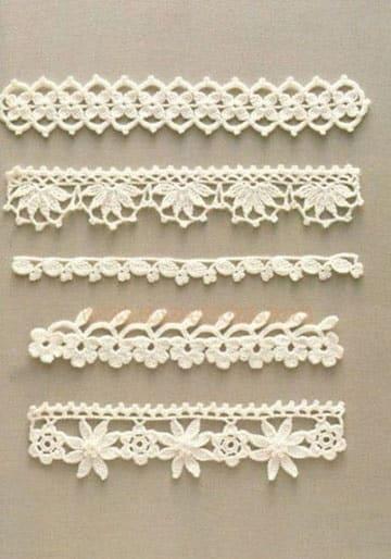 puntillas tejidas a crochet para mantillas